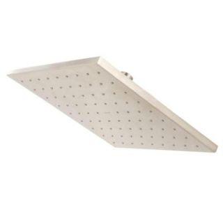 KOHLER 1 spray Single Function 10 in. Contemporary Square Rain Showerhead in Brushed Nickel K 13696 BN