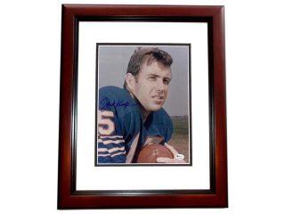 Jack Kemp Autographed Buffalo Bills 8X10 Photo Mahogany Custom Frame   Former Congressman