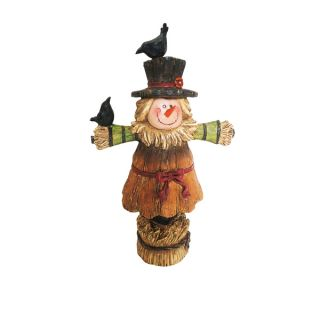 12 inch Girl Scarecrow Harvest Statuary   17574648