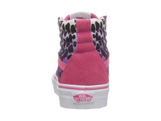 Vans Kids Sk8 Hi Little Kid Big Kid Pink Helmet Posse Ombre Cheetah Hot Pink, Pink,