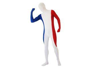 SecondSkin Full Body Spandex/Lycra Suit   World Flag Design   FRANCE   Small