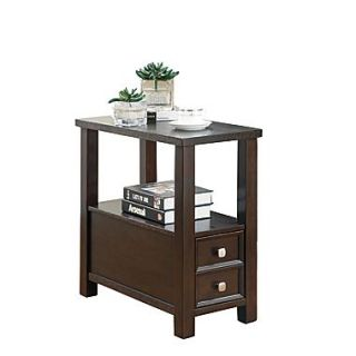 COASTER End Table Wood 24H x 12W x 24D Shelf Chairside Table
