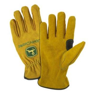 John Deere Split Cowhide Large Driver Gloves JD00004/L