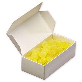 Cardboard 1.88H x 3.38W x 7.13L One Piece Candy Boxes, White, 250/Case
