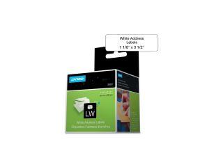 DYMO 30251 Address Labels, 1 1/8 x 3 1/2, White, 260/Box
