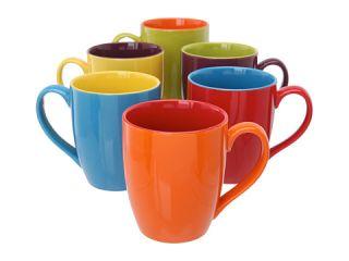 Bia Cordon Bleu Assorted Colors Coffee Mug 15oz Gift Box Set Of 6