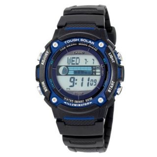 Casio Mens Solar Powered Tide & Moon Graph Watch   Black   WS210H