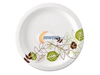 "Dixie UX9WS Pathways Paper Plates, 8.5"", WiseSize, Green/Burgundy, 500/Carton"