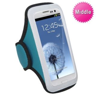 INSTEN Universal Baby Blue Sport Armband Phone Case Cover   15625672