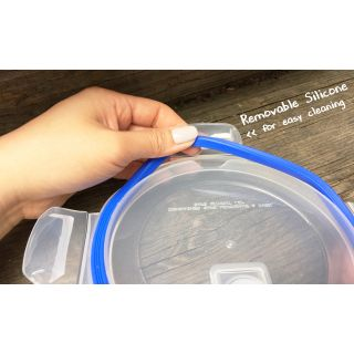 Go Green Glasslock Elements 14 Ounce Round Food Storage Container with