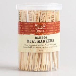 Wooden Meat Markers, 100 Count