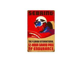 Past Time Signs PTS036 Sebring Automotive Vintage Metal Sign