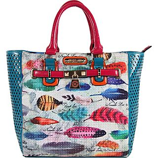 Nicole Lee Feather Print Tote Bag
