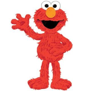 18 in. x 40 in. Sesame Street   Elmo Loves You 17 Piece Peel and Stick Giant Wall Decals RMK1867GM