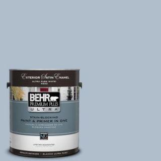 BEHR Premium Plus Ultra 1 gal. #570E 3 Liberty Gray Satin Enamel Exterior Paint 985401