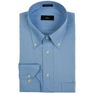 Alara Pinpoint Oxford Blue Button Down Mens Dress Shirt   17111713