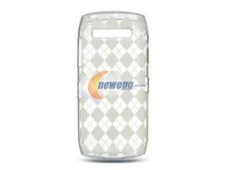 BlackBerry Pearl 9100 Clear Checker Design Crystal Skin