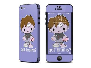 Got Brains Design Protective Decal Skin Sticker (High Gloss Coating) for Apple iPhone 5 16GB 32GB 64GB Cell Phone