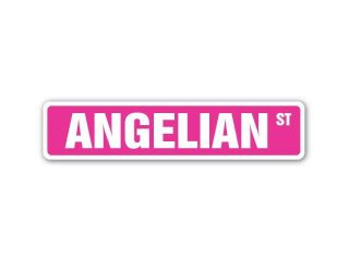 ANGELIAN Street Sign name kids childrens room door bedroom girls boys gift