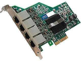 AddOn   Network Upgrades 629135 B21 AOK Gigabit Ethernet Network Interface Card 10/ 100/ 1000Mbps PCI Express 4 x RJ45
