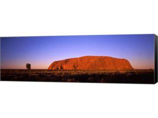 Rock formation, Uluru, Uluru Kata Tjuta National Park, Northern Territory, Australia by Panoramic Images Canvas Art, Size 36 X 12