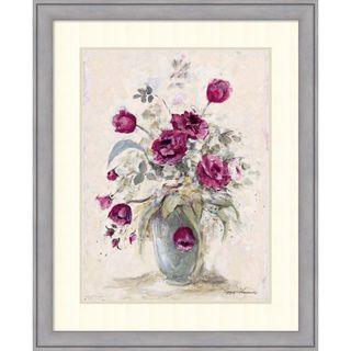 Peggy Abrams Crimson Roses ll Framed Art Print 27 x 33 inch