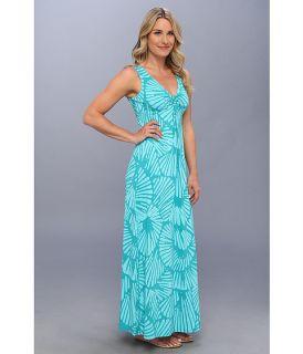 Tommy Bahama Shells Aswirl Long Dress Clear Ocean