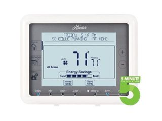 HUNTER 44905 Auto Save 7 Day Programmable Thermostat