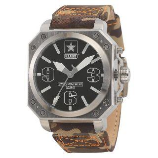 Mens Wrist Armor U.S. Army C4 Swiss Quartz Watch   Black
