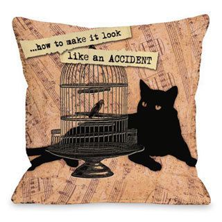 Look Like an Accident Throw Pillow   15736476   Shopping
