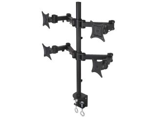 """Quad LCD Monitor Desk Mount Stand Heavy Duty Fully Adjustable fits 4 /Four Screens up to 27"""" ~ (by VIVO) STAND V004"""
