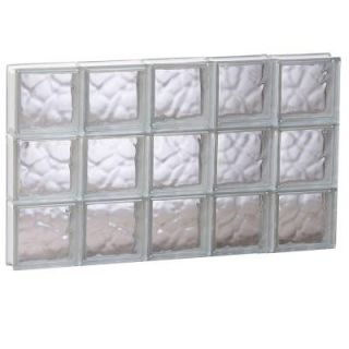 Clearly Secure 38.75 in. x 23.25 in. x 3.125 in. Wave Pattern Non Vented Glass Block Window 4024SDC