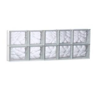 Clearly Secure 32.75 in. x 11.5 in. x 3.125 in. Non Vented Wave Pattern Glass Block Window 3412SDC