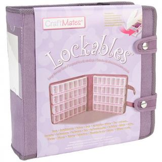 Craft Mates Large Purple Lockable Organizer with Suede Like Cover   7103348