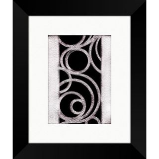 Black and White Swirls Framed Art, II