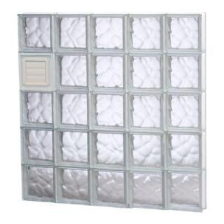 Clearly Secure 38.75 in. x 38.75 in. x 3.125 in. Wave Pattern Glass Block Window with Dryer Vent 4040SDCDV