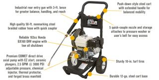 NorthStar Gas Cold Water Pressure Washer — 3000 PSI, 2.5 GPM, Honda Engine, Model# 15781120  Gas Cold Water Pressure Washers