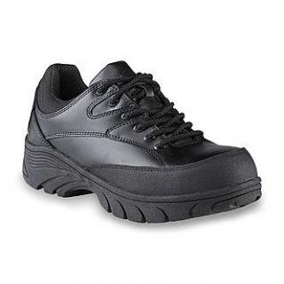 Roebucks Mens Drake Black Steel Toe Work Shoe   Clothing, Shoes