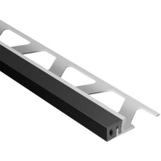 Schluter Dilex KSA Aluminum with Black Insert 5/16 in. x 8 ft. 2 1/2 in. Rubber and Metal Movement Joint Tile Edging Trim AKSA80GS