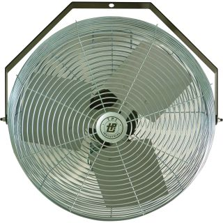 TPI Industrial Mounted Workstation Fan — 12in., 1/5 HP, 1,650 CFM, 120 Volt, Model #U-12-TE  Workstation Fans