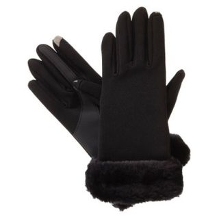 Impressions by Isotoner Smartouch Technology Gloves with Faux Fur Cuff