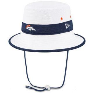 Denver Broncos New Era On Field Training Camp Bucket Hat   White
