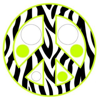 Instant Mural Design IMD 379 Zebra Stripe Peace Signs and Dots, Pink