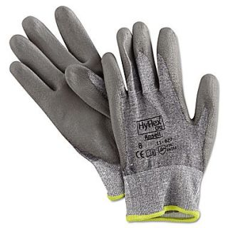 Ansell HyFlex DSM Dyneema/Lycra Lining Polyurethane Coated Cut Resistant Gloves, Gray, Medium