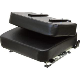K&M Fold-Down Universal Industrial Seat — Black, Model# 6844  Forklift   Material Handling Seats