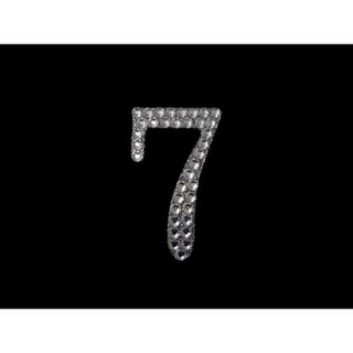 Ya Ya VIP Number 7 in Clear Princess Rhinestones   10/pk