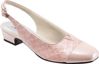 Womens Trotters Dea   Light Pink Patent Croco Leather
