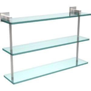 Allied Brass MT 5 22 SCH Montero Satin Chrome  Vanity & Glass Shelving Bathroom Accessories