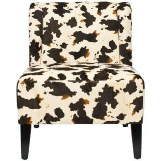 Safavieh Ashby Polyester Chair in Cow Print MCR5007B