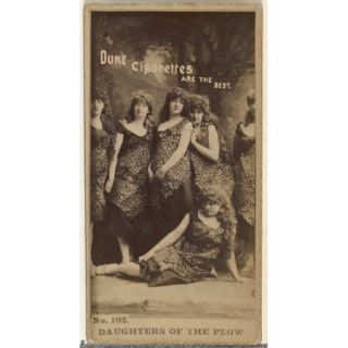 Card Number 102, Daughters of the Plow, from the Actors and Actresses series (N145 6) issued by Duke Sons & Co. to promote Duke Cigarettes Poster Print (18 x 24)
